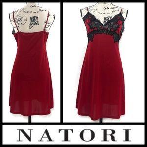 Natori Chemise Style Satin and Lace Nightdress